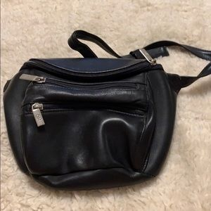 Vintage large leather belt bag.
